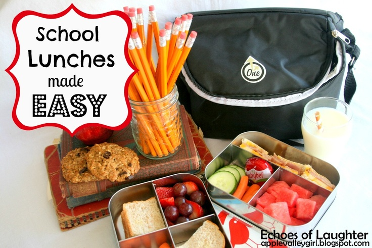 Lots of suggestions and ideas for how to make school lunches. Easy & nutritious lunches!
