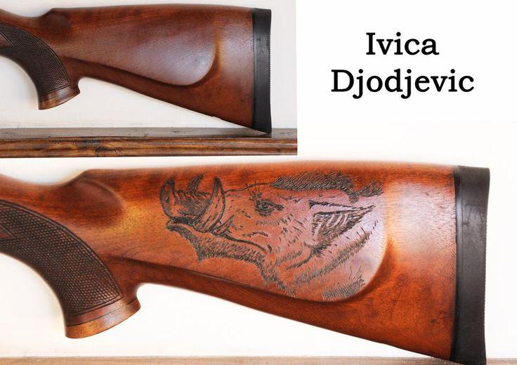 Pyrography on gun stock wood burning art pinterest
