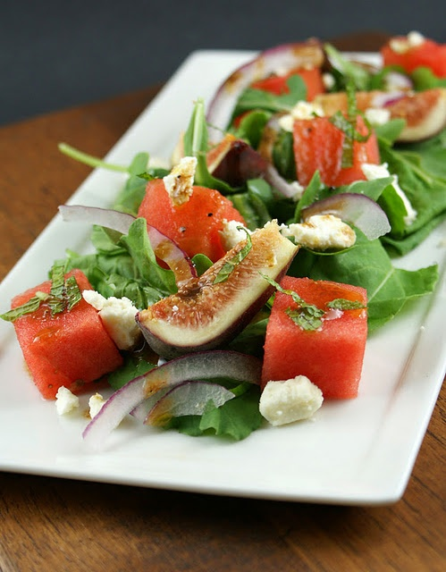 Fig Feta and Watermelon Salad... Yes!!
