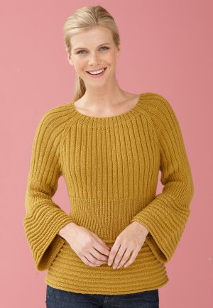 Free Knitting Pattern - Women's Pullovers: Flounce Edge Pullover