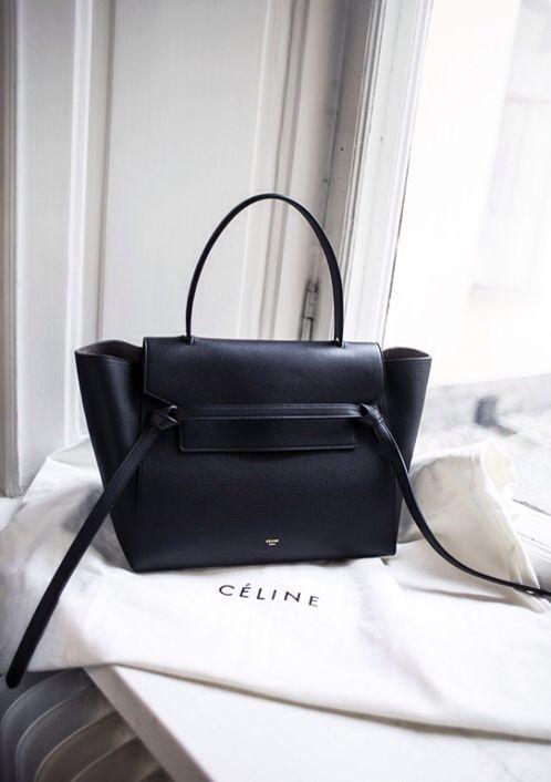 Céline navy belt knot tote bag