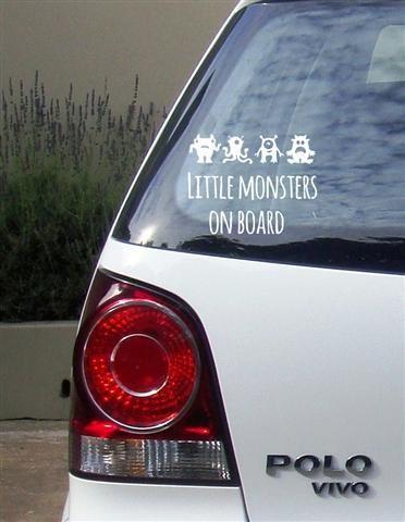 Little monsters Vinyl Vehicle Sticker