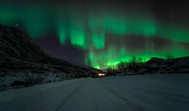 Driving Home For Christmas - Please view on a dark background - Lifjorden, Vesterålen in Northern Norway. One of the most active aurora displays I have ever seen, and I have lived up here for over 30 years !