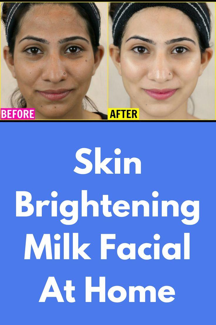 Instant Skin Brightening Milk Facial At Home Skin Brightening Beauty Skin Care Routine Skin