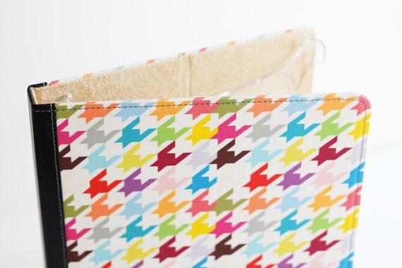 colorful iPad case---herringbone