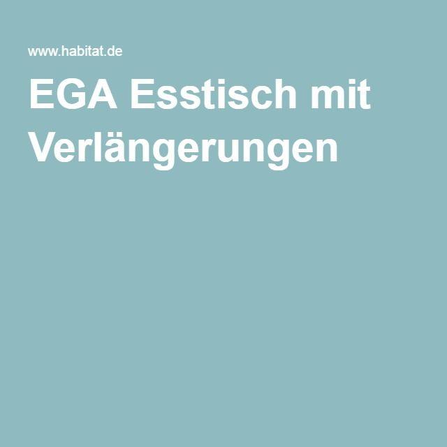 EGA Esstisch mit Verlängerungen