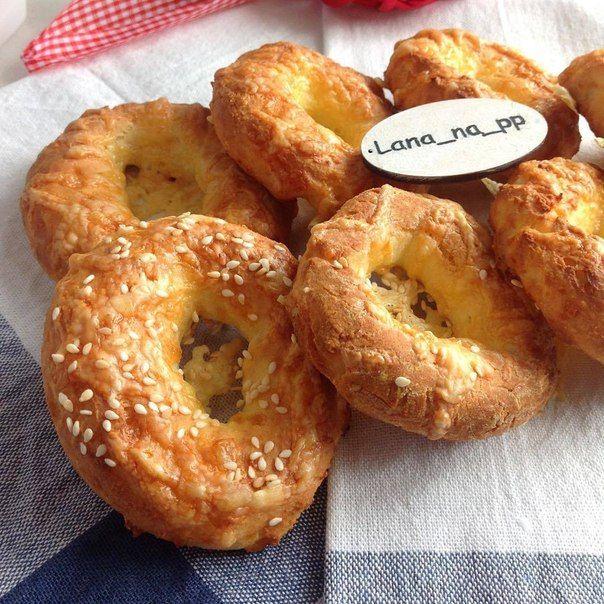 Творожные бублики с сыром - ПП-выпечка