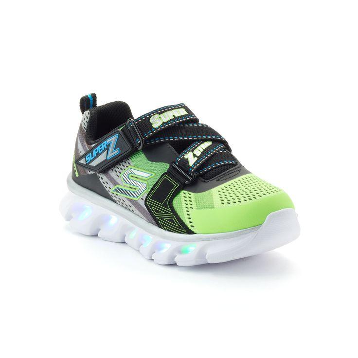Skechers S Lights Hypno-Flash Boys' Light-Up Shoes, Boy's, Size: 12, Light Pink