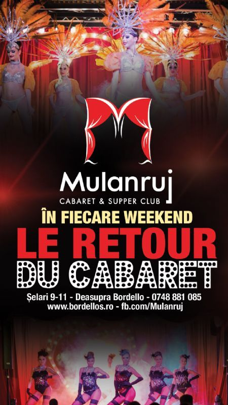 Sambata, 10 Octombrie 2015, ora 20:00, Mulanruj Dining Theatre, Bucuresti