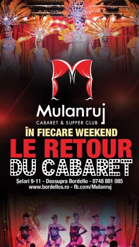 Sambata, 28 Noiembrie 2015, ora 20:00, Mulanruj Dining Theatre, Bucuresti