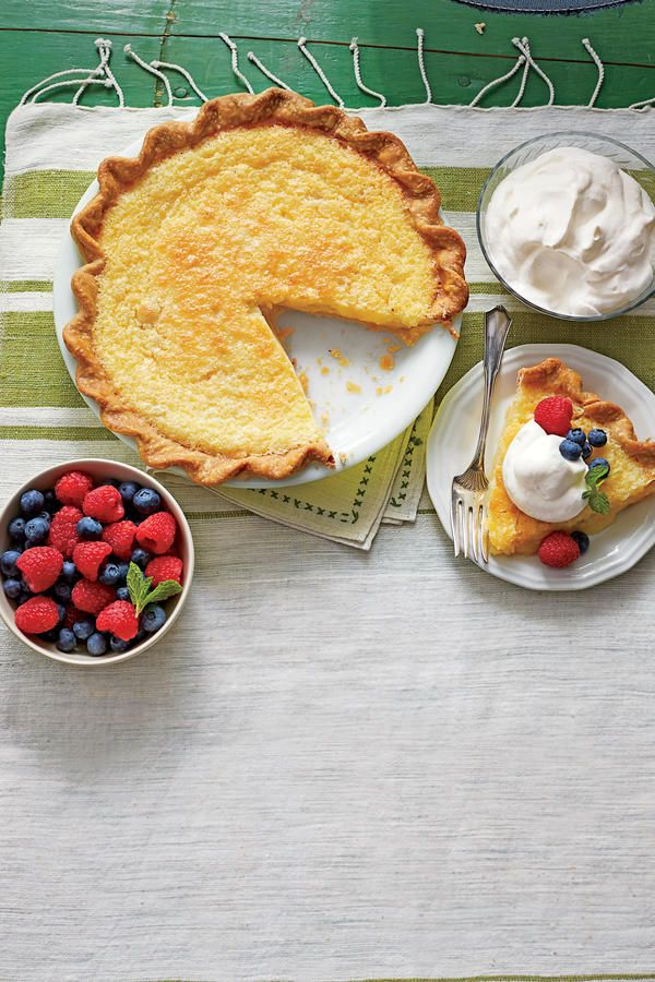 Classic Southern Buttermilk Pie - The Prettiest Easter Pies We've Ever Seen - Southernliving. Recipe: Classic Southern Buttermilk Pie  Each bite of this nostalgic pie will take you back in time. Pile high with homemade whipped cream and fresh berries.