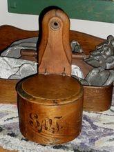 C.1880 Bentwood Salt Box   Snipe Hinges   $95.00