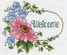 Cottage Welcome, designed by @Pamela Kellogg, from @Kreinik.