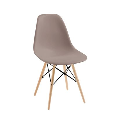 Click to zoom - Eiffel dining chair with beech legs stone