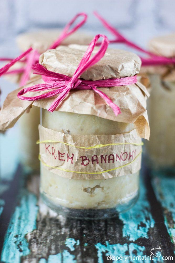 Krem bananowy z karmelową czekoladą - przepis / bananas cream