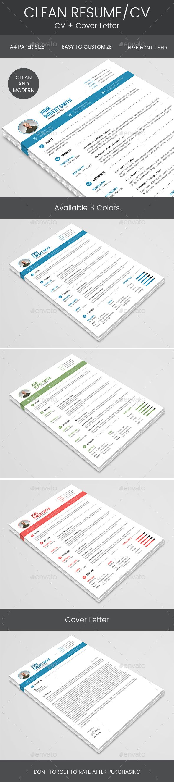 Clean Resume u0026 Cover Letter 14 best