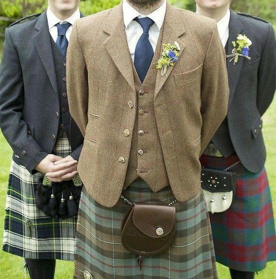 A Scottish take on the formal suit - it looks nice here, but outside of Burns Day, I'd be surprised to see it where I am.