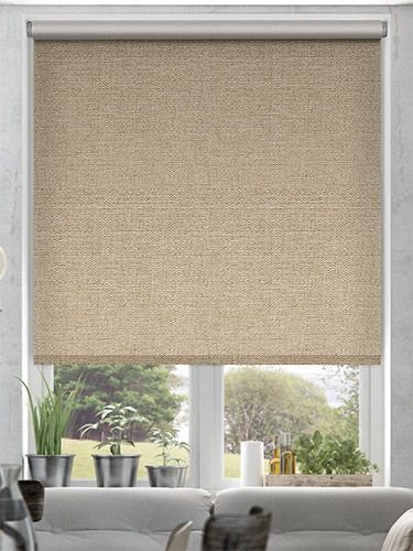 Thermal Luxe Blackout Bisque Energy Saving Roller Blind from Blinds 2go