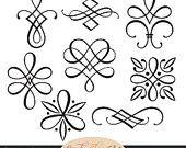 Sofortiger Download - Kalligraphie-Ornamente, grafische Ornamente, Hochzeit ClipArt, dekorative Ornamente, Hochzeit Ornamente