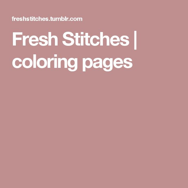 Fresh Stitches   coloring pages