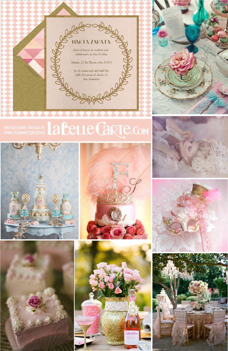 75 best invitaciones xv images on pinterest bridal - Invitacion para cumpleanos ...
