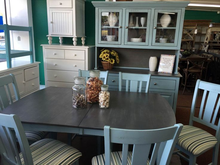 Brighten Up Your Dining Space With This Beautiful Table Chairs And Matching Hutch Fabulous Solid Wood Paring Is Just One Of Many Room Sets