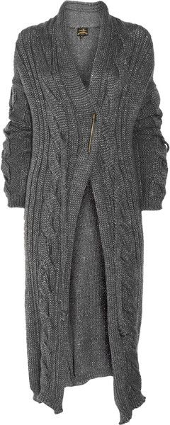 VIVIENNE WESTWOOD ENGLAND Oversized Metallic Knitted Cardigan - Lyst