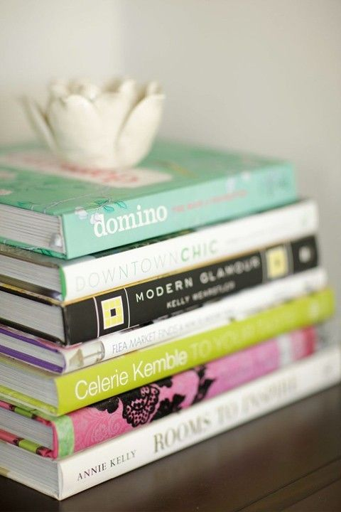 Stacked Coffee Table Books