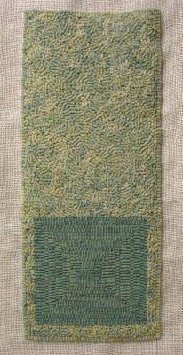 Studio and Garden: technique:rug hooking