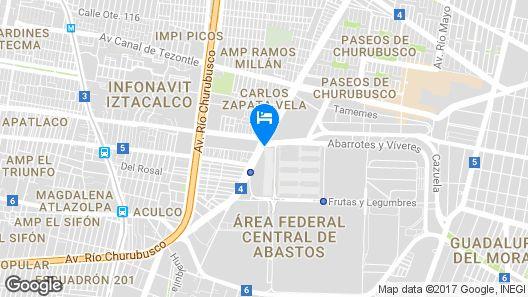 Fiesta Inn Plaza Central Aeropuerto Map