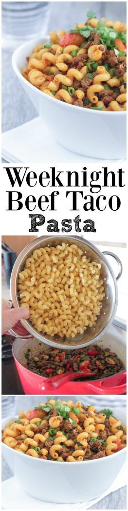 Weeknight Beef Taco Pasta - Picky Palate