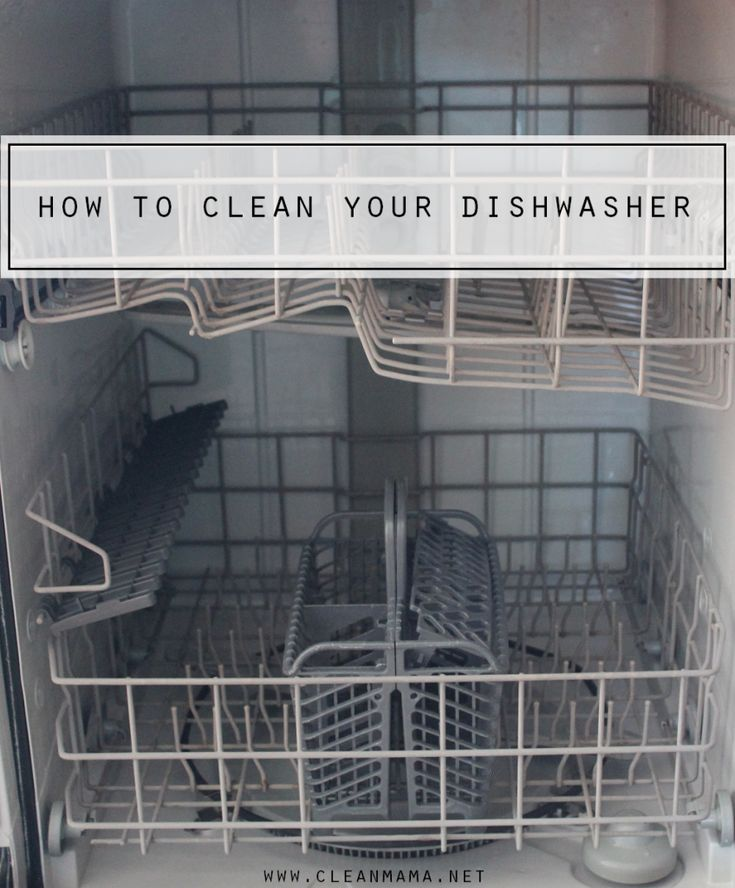 how to clean your dishwasher via clean mama cleaning cleaning supplies pinterest clean. Black Bedroom Furniture Sets. Home Design Ideas