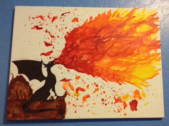 Oil fire and crayons