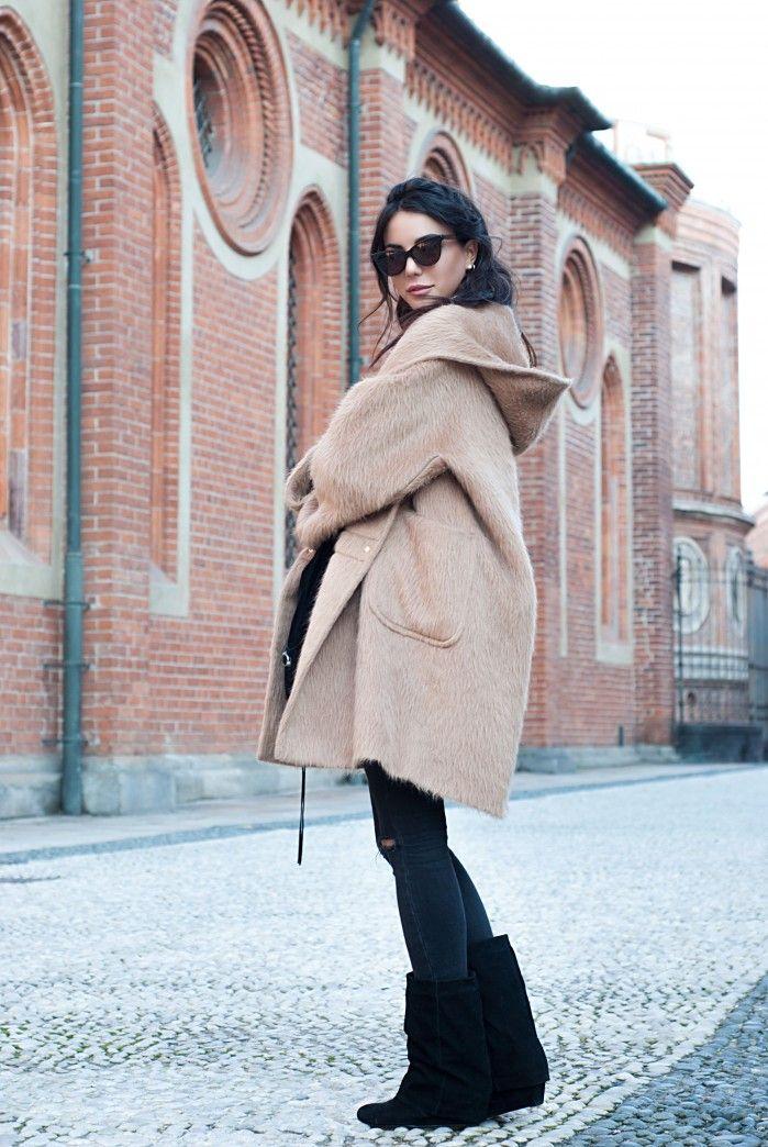 boots by sarenza  jeans asos coat max mara sweater asos bag balenciaga sunglasses J+ watch rolex