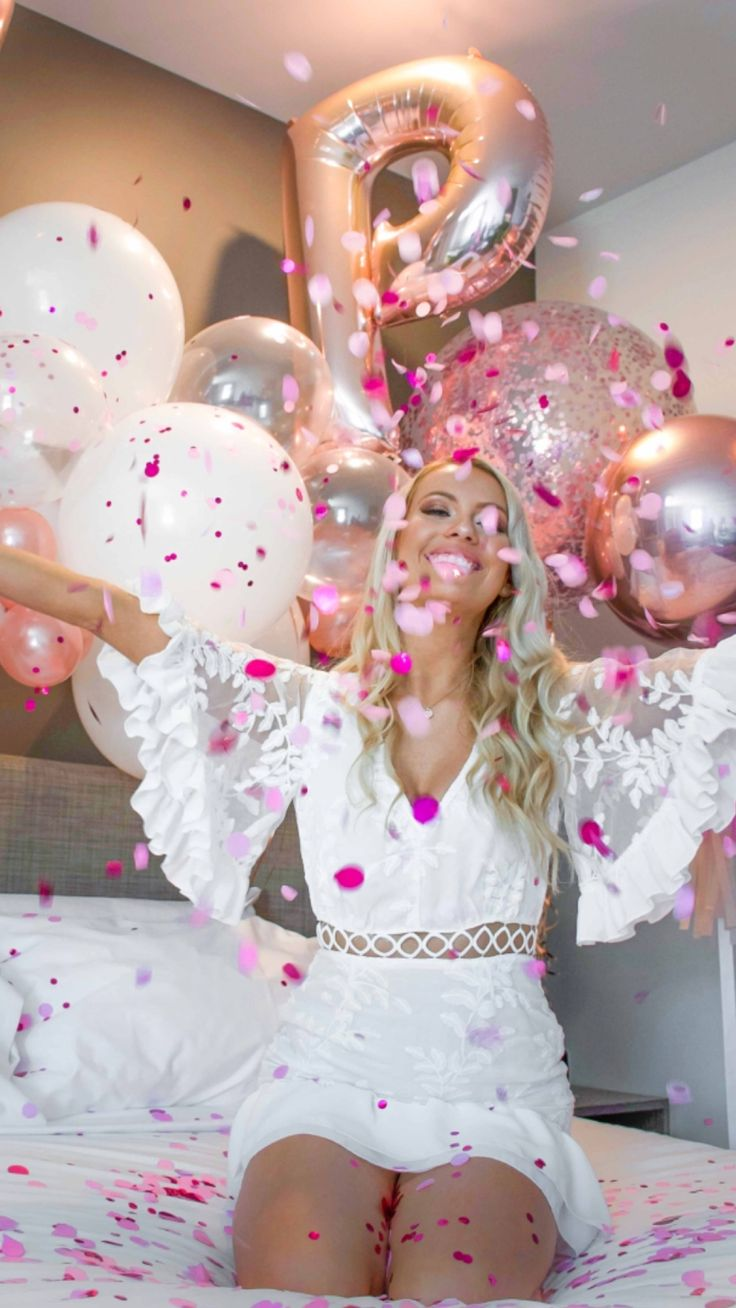 Celebration Party Girls Balloons Pink and Rose Gold Balloons 💗💗 #Party #Partyideas #Partydecor #Partysupplies #Adelaideballoons #Balloons #Eventstylist #Pinkparties #PuffandPop