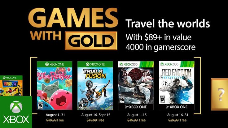 The August 2017 Games With Gold have been revealed with Bayonetta highlighting the lineup for 360 and Trials Fusion coming to Xbox One.