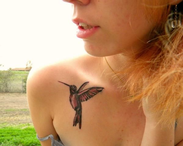 front shoulder tattoos - Cute!