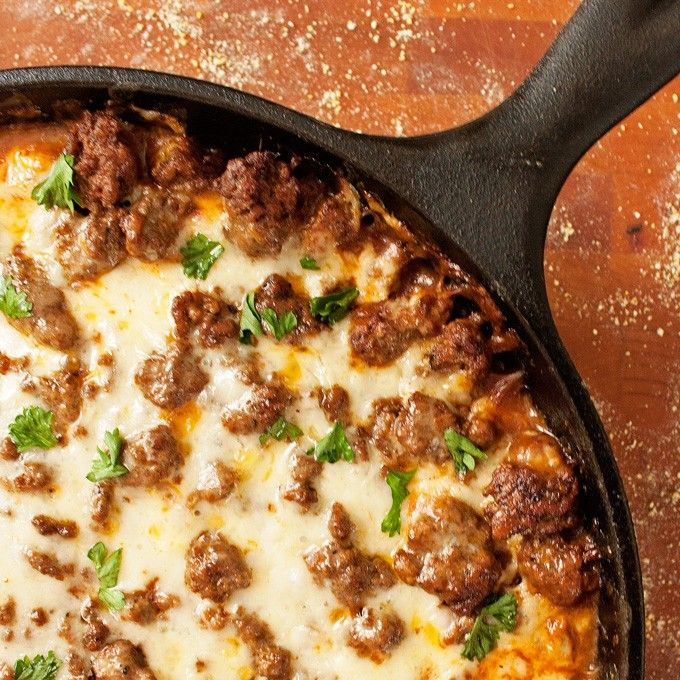 Tamale Pie! It's packed with moist cornbread, gooey cheese, and general taco-y goodness.
