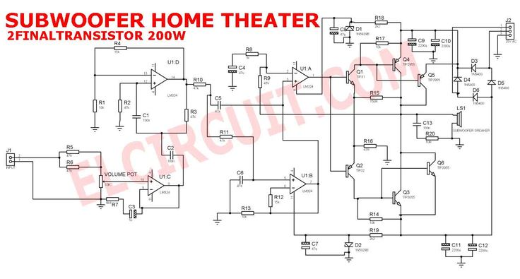 Schematic 150W Subwoofer Home Theater