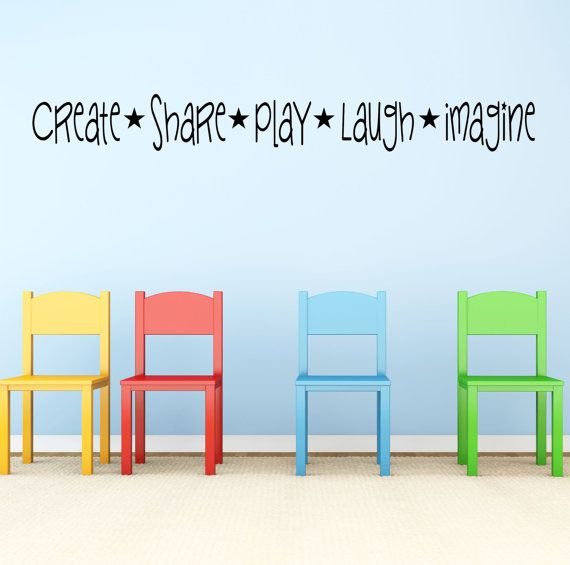 Kids Playroom Wall Decal Sticker by StickyWallVinyl on Etsy