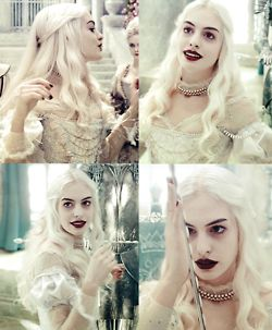 skeletonguns: Anne Hathaway in Tim Burton's Alice in Wonderland