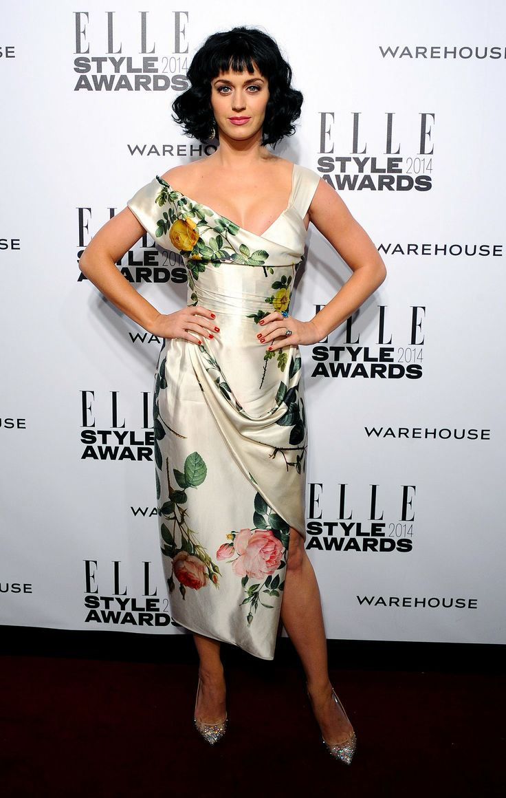 Katy Perry in Vivienne Westwood at the Elle Style Awards. EvErYtHiNg! Minus the print... I'm thinking ReCePtIoN dress...