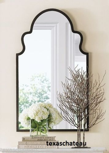 Large Round White Mirror
