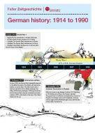 Zeitleiste 1914-1990 (englisch und deutsch) (© bpb)