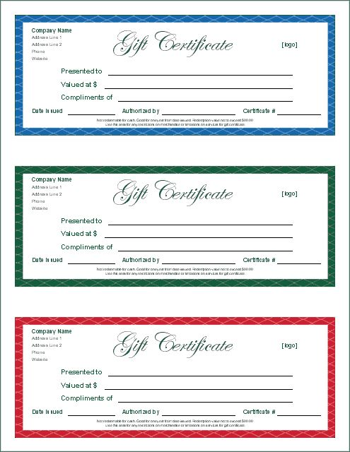 Gift Certificates Samples Mark Kruizenga Bowguy672 On Pinterest