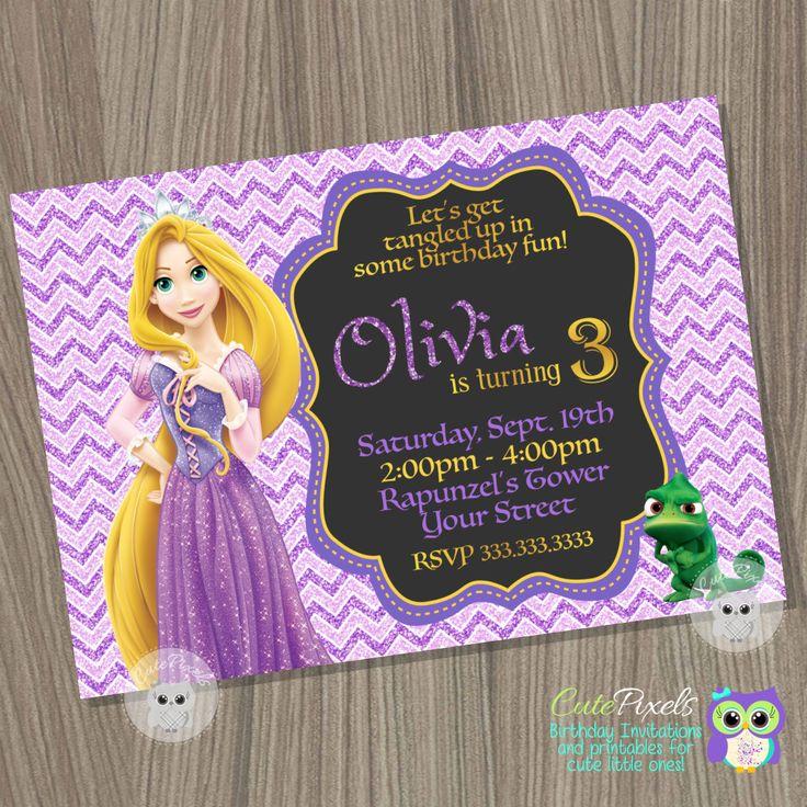25 beste idee n over Rapunzel invitations op Pinterest Verwarde – Rapunzel Party Invitations