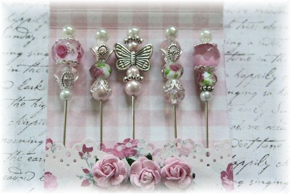 #EtsyFind I like stick pins and butterflies and this shop has both.  Mini Matchbook Stick Pins for Scrapbooking,Cardmaking or Mini Albums, Pretty in Pink via Etsy