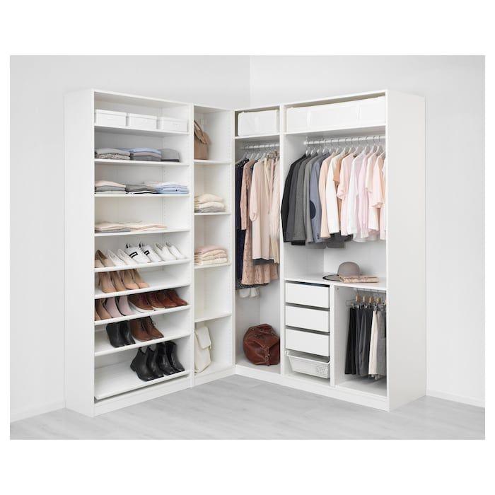 Pax Corner Wardrobe White Tyssedal Tyssedal Glass 82 3 4 73 7 8x93 1 8 In 2020 Ikea Wardrobe Closet Bedroom Pax Corner Wardrobe