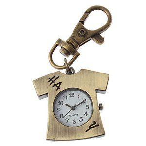 Tanboo Unisex T Shirt Design Alloy Analog Quartz Keychain Watch (Bronze) by Tanboo. $5.99. Women's, Men's Watche. Gender:Women's, Men'sMovement:QuartzStyle:Keychain WatchesBand Color:BronzeCase Diameter Approx (cm):4Case Thickness Approx (cm):0.8Band Length Approx (cm):7Band Width Approx (cm):1.2