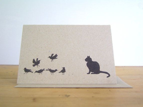 Mother Goose Card 'Pussy cat pussy cat wilt thou by DearDaisyChain, $5.00